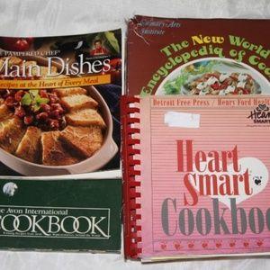 Lot of 4 cookbooks vintage to modern